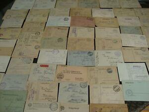 Posten DR Feldpost 1. WK Briefe und PK 1914-1917 gelaufen 80 Stück aus Nachlass
