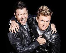 Nick Carter and Jordan Knight Glossy 8x10 Photo 3