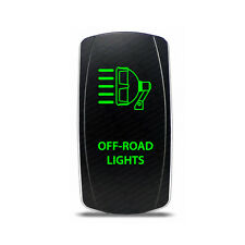 Rocker Switch Off-Road Lights Symbol - Green LED