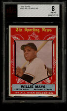 1959 TOPPS #563 WILLIE MAYS ALL STAR (AS) BVG 8 NM-MT SAN FRANCISCO GIANTS