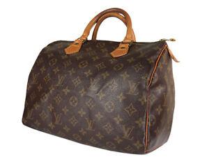 LOUIS VUITTON Speedy 30 Monogram Canvas Leather Hand Bag LH3900