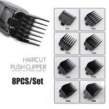 8pcsx Hair Clipper Guide Limit Comb Trimmer Guards Attachment 3-25mm Universal#