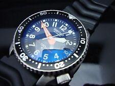 Vintage Seiko 7002 XX MEGA MOD MILITARY BLUE BB BLUE SAPPHIRE CRYSTAL 150m H16.