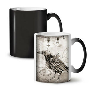 Bird Hippie Cool NEW Colour Changing Tea Coffee Mug 11 oz | Wellcoda