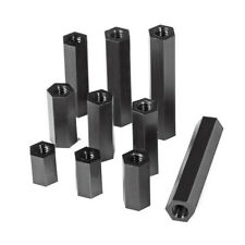 Black Nylon Hex Spacer Female-Female Standoff Pillar Hex Head Column M3/M4
