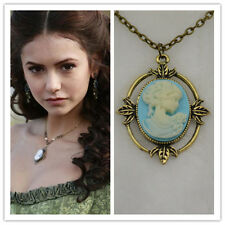 VAMPIRE DIARIES INSPIRED CAMEO VINTAGE NECKLACE VICTORIAN PENDANT Xmas GIFT UK