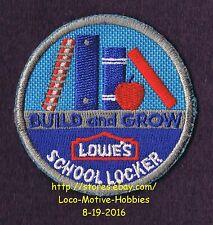 LMH PATCH Badge  2008 MINI SCHOOL LOCKER  Books Apple LOWES Build Grow Clinic