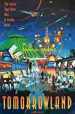 Viintage Disney  ( Tomorrowland ) Collector's Poster Print - B2G1F