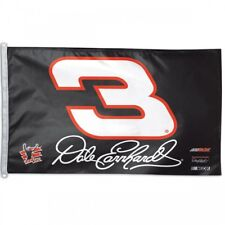 DALE EARNHARDT CAR #3 FLAG 3'X5' NASCAR BANNER: FREE SHIPPING