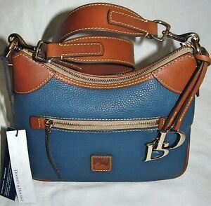 Dooney & Bourke Blue Jeans Pebble Grain Small Medium Hobo Shoulder Bag Purse