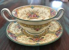 1 WEDGWOOD St. Austell Cream Soup Bowl Cup w Plate  Discontinued