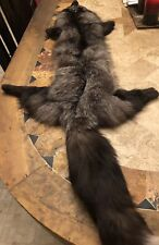 Large 50 Inch Rare Russian Blue Natural Fox Full Pelt Stole