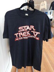1989 Original Vintage STAR TREK V The Final Frontier T SHIRT Screen Stars Large