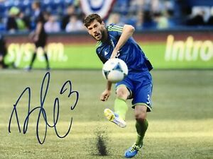 BRAD EVANS SIGNED SEATTLE SOUNDERS FC 8X10 TEAM USA MLS SOCCER AUTOGRAPHED AUTO