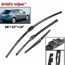 """Front Rear Wiper Blades Windshield Set For Ford Focus 2 2005-2011 26""""+17""""+14"""""""