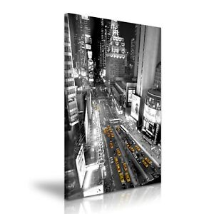 New York Times Square Skyline Yellow Taxi Modern Art Canvas Print~ 5 Sizes