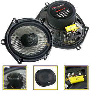"2 Pack American Bass 6x8"" 2 Way Coaxial Car Stereo Speakers SQ5.7 150W"