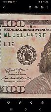 2013 $100 Ink Transfer Error Note wd fancy serial number Crispy crick bill