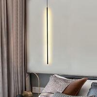 New LED Slender Strip Pendant Light Chandelier Cylindrical Ceiling Lamp Fixture