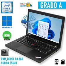 "Lenovo THINKPAD X240 i5 12,5"" Touch Screen Touchscreen 8GB 256GB PC Windows 11"