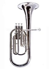 Bright Fever Deluxe Alto Horn Silver Plated Charcheta Saxor New Nuevo Fast Shipping Brass