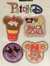 Disney Parks Food Icons Snack Goals Treat Yo Self Patched Adhesive 4 Patch Set