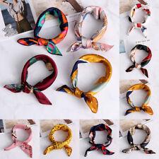 Cuello corbata Mujeres bufanda cuadrada Pañuelo Bandana Raso de seda sentir