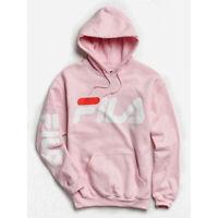 FILA Hoodie Sweatshirt Men's or Women's Logo Retro NEW PINK