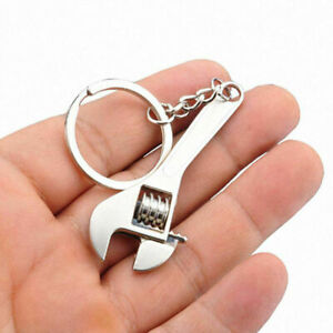Mini Metal Wrench Spanner Key Chain Ring Keychain Adjustable Creative Tool Gift