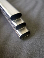 38mm x 20mm Oval Tube Stainless Steel 304 Grade Pipe Hand Railing Rails Exhaust