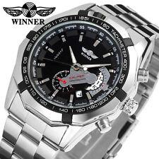 WINNER men steel Mechanical Automatic Stylish Classic Skeleton Steampunk watches