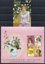 MALEDIVEN MALDIVE 2001 Lady Diana 40. Geburtstag 3886-3889 + Block 509 ** MNH