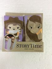 Story Time Knee Socks Toddler Non Skid Cowgirl & Horse Mismatched Pair New