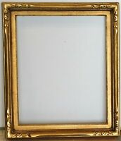 VIntage newcomb macklin style carved gold leaf frame fits 15 x 18 painting