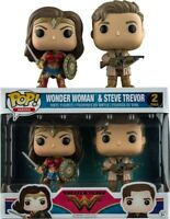 Wonder Woman Funko POP Movies: Wonder Woman and Steve Trevor Action Vinyl Figure