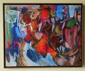 Mid Century Modern Abstract Expressionist Painting by Lee Byron Jennings, 1965