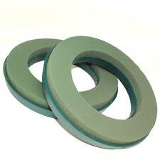 """PAIR OF 10"""" FLORAL OASIS WET FOAM PLASTIC BACK WREATH RINGS FUNERAL WREATH"""