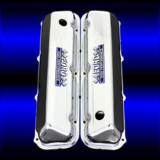 Big Block 429 460 Valve Covers For Ford Engines Chrome with Ford Emblems