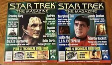 STAR TREK THE MAGAZINE, Two Issues, March - April 2000, Very Good Condition