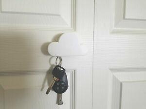 Colgador de Llaves Color Blanco en Forma de Nube con Iman - White Key Holder