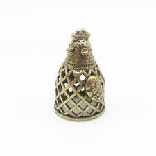 Brass Thimble souvenir with lizards playing IronWork
