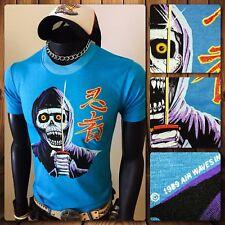 80s Excalibur Skeleton Skull Ripper sword Powell peralta skateboard vtg T-Shirt
