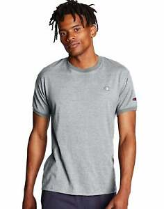 Champion Mens Classic Jersey Ringer Tee Athletic Fit 100% Cotton Ringspun Crew