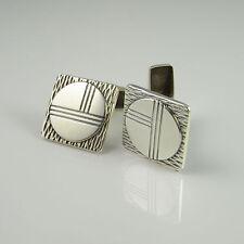 1980s Finland Silver Cufflinks Scandinavian Designer Jewelry Mens Cuff Links