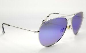 Maui Jim Mavericks MJ-264-17 Titanium Silver / Blue Hawaii Polarized Sunglasses