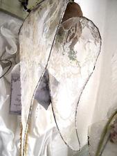 Handgemachter Engelsflügel Tea Brocante Spitze 31 cm Shabby weiß antik style