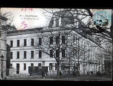 ST-ETIENNE (42) ROULOTTE & CHANTIER à la BOURSE du TRAVAIL animée en 1905