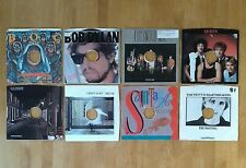 """7"""" VINYL RECORDS: 1980'S ROCK SINGLES MIXED LOT OF 8 NM CONDITION"""
