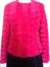 BNWT Vera Moda Pink Faux Fur Jacket Size M