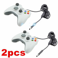 LOT2 White wired Game Remote Controller for Microsoft Xbox 360 Console bundle